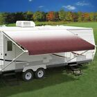 Patio Awning Fabric 16L x 8Ext Burgundy Vinyl Two Piece Fade Patio Awning