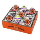 Christopher Radko Shiny Brite Halloween Ornaments Reflector Rounds 9pc Set