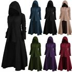 Women Winter Warm Hooded Solid Color Cool Dress Gothic Vintage Dark Style