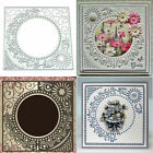US DIY Embossed Lace Circle Frame Metal Cutting Dies Stencil Scrapbooking Cards