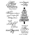 Silicone Christmas Tree Stamp Clear Rubber Stamps DIY Scrapbook Crafts Tools US