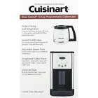 Cuisinart Brew Central 12 Cup Programmable Stainless Steel Coffee Maker Silver