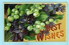 2nd of 2 Embossed Best Wishes Bunch of Lilies of the Valley and Violets