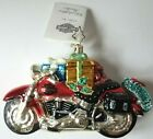 Christopher Radko Harley Davidson Fat Boy Red Motorcycle Ornament Poland w Tag