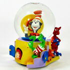 Dr Seuss Cat In The Hat FRIENDS COME TO VISIT 55 Musical Water Globe MIB