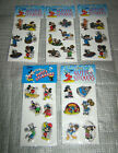 Vintage MICKEY MOUSE PUFFY GLITTER STICKERS LOT Disney Goofy Minnie Pluto Donald