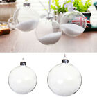5 50x Clear Glass Baubles Lid Design Filled Christmas Tree Ornament Sphere Ball