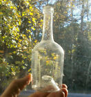 OPEN PONTIL EARLY 1830s DIP MOLD BLOWN UTILITY BOTTLE DRIPPY LIP PAPER THIN