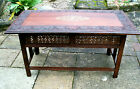 LARGE ANTIQUE ROSEWOOD ANGLO INDIAN FOLDING SIDE TABLE WITH INLAID TOP