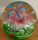Vintage 55 Murano Style Art Glass Dolphin Fish Coral Aquarium Paper Weight