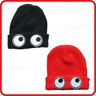 BIG EYES GOOGLY SWIRLING JIGGLY KNIT HAT BEANIE CAP-ALIEN ELF WIZARD GNOME PARTY