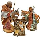 118 Indoor Outdoor Fontanini Nativity Set 5 Pcs Holy Family  Animals Figures