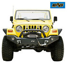 EAG LED Front Bumper with ABS Light Frames Fit 87 06 Jeep Wrangler TJ YJ