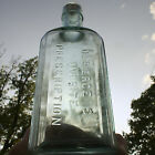 Antique Aqua Dr Pierces Favorite Prescription Bottle Quack Medicine Primitive