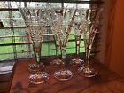 6 Top Quality Heavy Crystal 6 Oz 9 Champagne Wine Flutes Glasses