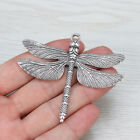 2pcs Antique Silver Large Dragonfly Charms Pendants for Jewelry Making Findings