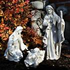 Outdoor Nativity Set 3pc White 17 inch Removable Jesus Yard Statue Resin