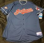 Authentic Majestic 54 3XL CLEVELAND INDIANS BOB FELLER ON FIELD COOL BASE Jersey