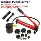15Ton Driver Hydraulic Tool Kit 10 Dies 1 2 4 Knockout Punch Set with Case