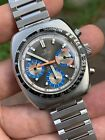 Lovely Orfina Vintage Swiss Chronograph Mens Watch Valjoux 72 Steel Case 375mm