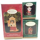 3 Club Member Window Miniature Vtg Christmas Tree Keepsake Ornament Lot In Box
