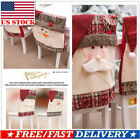Christmas Chair Cover Mr Santa Snowman Xmas Holiday Party Home Party Table Decor