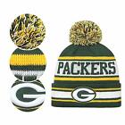 Nfl Fans Hats Winter Stripe Knit Cuffed Stylish Beanie Knit Cap Sport Hats Fashi