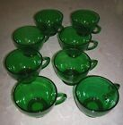 Lot 8 Vintage Forest Green Charm PUNCH CUPS Anchor Hocking