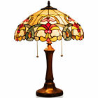 Tiffany Style 16 Reading Lamp Stained Glass Victorian Table Lamp W 2 Light