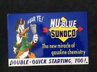 VINTAGE SUNOCO GASOLINE METAL SIGN OIL SERVICE STATION PUMP PLATE DONALD DUCK