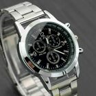 Men's Fashion Sport Quartz Analog Wrist Watch Leather/Stainless Steel Band