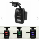 Double Outlet Chargers USB Recessed 12 24V for Car Camper Boat