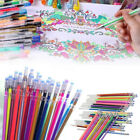 US 48 Colors Gel Pens Refill Glitter Coloring Drawing Painting Marker Stationery