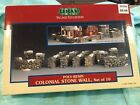 Lemax Village Collection 1999 Poly-Resin Colonial Stone Wall Set Of 10