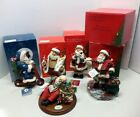 Grouping of 5 Clothtique Possible Dreams Assorted Santa Clauses with Boxes