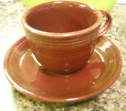 HOMER LAUGHLIN FIESTA TEA COFFEE CUP & SAUCER SET RETIRED COLOR CINNABAR NEW