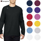Champion Mens T390 Jersey Crew Neck Long Sleeve Logo T Shirt UV Protection