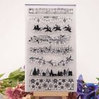 Xmas Border Clear Silicone Rubber Stamp Sheet Cling Scrapbooking Cards DIY BE