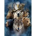 Half Drill DIY 5D Bear Wolf Diamond Painting Kits Art Embroidery Home Decor Gift