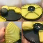 Hazel Atlas Moderntone Chartreuse Green Hunter Green Serving Dish Glass Retro