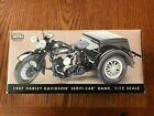 NIB 1947 Harley Davidson Servi Car Bank 112 Scale Die Cast Model 99211 96V NIB