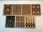 Lot of 7 Wallpaper Background Rubber Stamp By Stampa Rosa 3 3 4 x 4 3 4 each