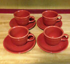 Fiesta Cup and Saucer Set Lot Set Of 4 Paprika ? ~  Retired ...Mint