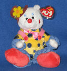 TY JUGGLES theh CLOWN BEANIE BABY - MINT with MINT TAGS