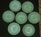 FIRE KING JADEITE GREEN MILK GLASS SAUCERS LOT OF 7 ALICE PATTERN 6
