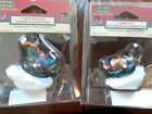 LOT OF 2 Lemax Christmas Village Collection TUBING WITH DAD & TUBING FUN