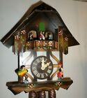 NICE GERMAN BACHMAIER & KLEMMER SWISS MUSIC DANCERS ALPS CHALET CUCKOO CLOCK!