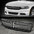 FOR 15 18 DODGE CHARGER OE STYLE FRONT BUMPER RADIATOR UPPER GRILLE CHROME TRIM
