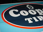 1970s Vintage COOPER TIRE Old Sunoco Gas Station Embossed Tin Sign