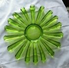 Limelight Avocado Green Celestial Federal Glass Co Sandwich Plate 11